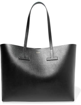 Tom Ford T Textured-leather Tote