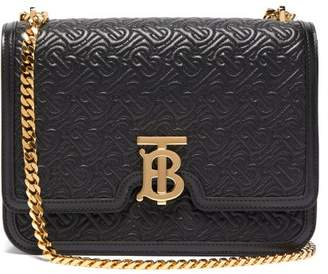 Burberry Tb Quilted Leather Cross Body Bag - Womens - Black