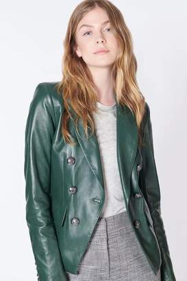 Veronica Beard Cooke Leather Jacket