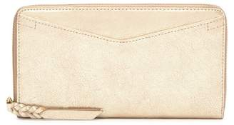 Fossil Caroline Leather Zip Wallet - RFID Protection