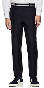 Valentino MEN'S STRIPED MOHAIR-WOOL STRAIGHT TROUSERS