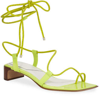 Rag & Bone Cindy Leather Ankle-Tie Sandals