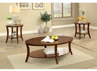 Andover Mills Ohlman Transitional 3 Piece Coffee Table Set