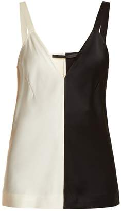 Haider Ackermann Bi-colour silk cami