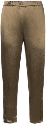 H Beauty&Youth satin tapered trousers