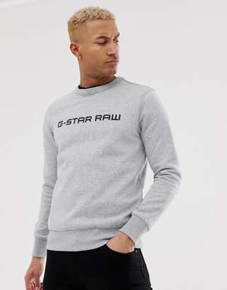G Star G-Star logo crew neck sweat in grey