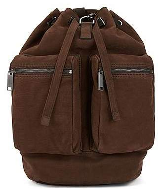 HUGO BOSS Fashion Show Capsule backpack in grainy calf leather