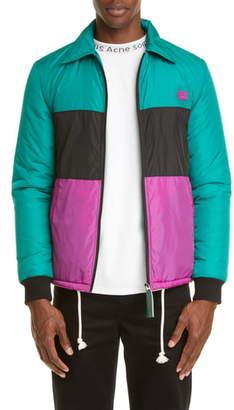 Acne Studios Odgar Face Colorblock Nylon Jacket