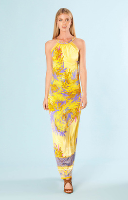 Hale Bob - Perla Maxi Dress In Yellow $475 thestylecure.com