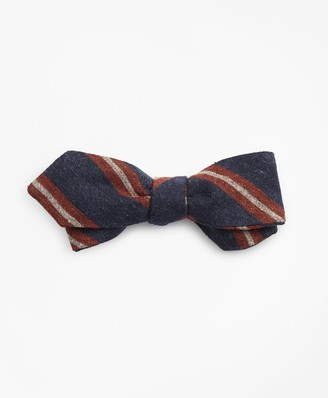 Brooks Brothers Donegal Stripe Pointed Bow Tie