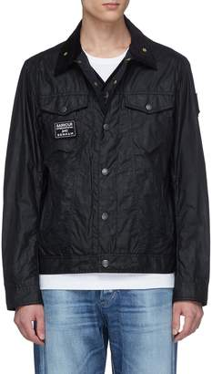 Denham Jeans x Barbour International 'South' quilted panel waxed jacket