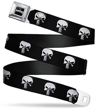 Buckle-Down Men's Seatbelt Belt The Punisher Regular