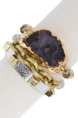 Saachi Spectacular Stackable Bracelet Set