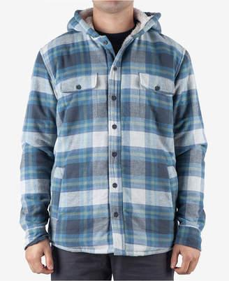 Rip Curl Men Pena Regular-Fit Plaid Fleece-Lined Hooded Flannel Shirt