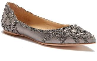 Badgley Mischka Gigi Crystal Pointy Toe Flat