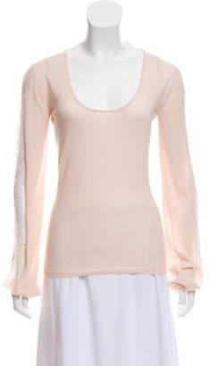 Emilio Pucci Virgin Wool Long Sleeve Sweater