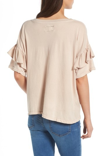 Women's Current/elliott The Ruffle Roadie Tee 4