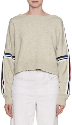 Etoile Isabel Marant Kao Boat-Neck Sweater with Stripes