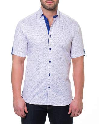 Maceoo Men's Fresh Swimsuit Shaped-Fit Print Short-Sleeve Sport Shirt
