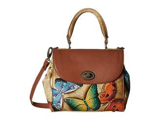 Anuschka 624 Medium Flap Satchel