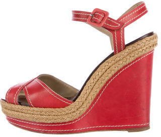 Christian Louboutin  Christian Louboutin Bretelle 100 Wedge Sandals