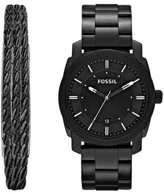 Fossil Machine Bracelet Watch & Jewelry Set, 42mm