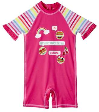 Wippette Baby Girl One Piece Rashguard Swimsuit