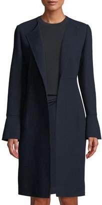 Lafayette 148 New York Russo Nouveau Crepe Wool Coat