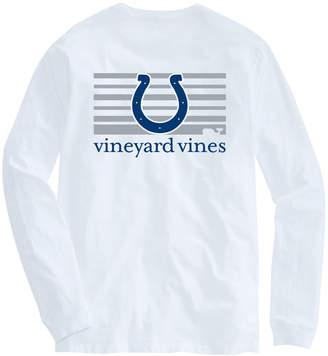 Vineyard Vines Adult Colts Long-Sleeve Block Stripe T-Shirt