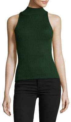 Ronny Kobo Ribbed Sleeveless Turtleneck