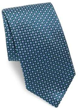 Brioni Dot Game Print Silk Tie