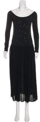 Sonia Rykiel Long Sleeve Maxi Dress