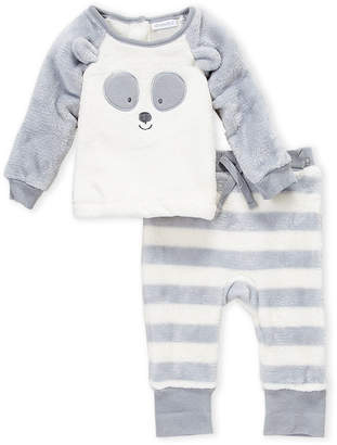 Absorba Newborns) Two-Piece Raccoon Plush Top & Pants Set