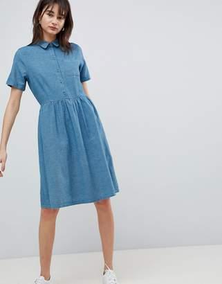Selected Denim Chambray Shirt Dress
