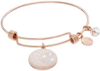 "Love This Life ""Moon and Back"" Charm Bangle Bracelet"