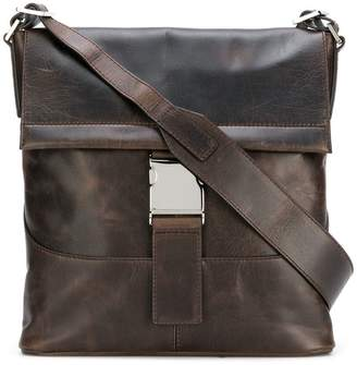 Orciani flat foldover top bag