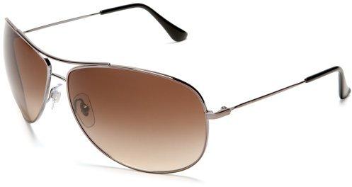 Ray-Ban RB3293 Bubble Wrap Aviator Sunglasses 67 mm, Non-Polarized, Gunmetal/Brown Gradient