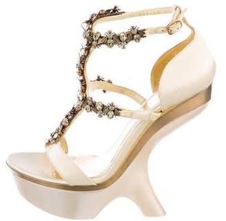 Alexander McQueen Crystal Bee Platform Sandals