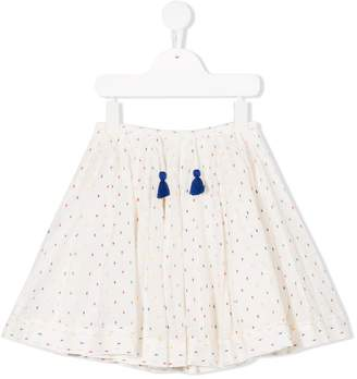 Bellerose Kids dotted full skirt