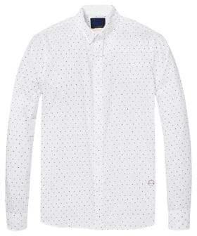 Scotch & Soda Slim Fit Dot Print Sport Shirt