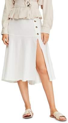 Free People Poppy Flounced Midi Skirt