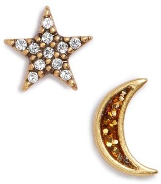 Women's Marc Jacobs Moon & Star Mismatch Stud Earrings $55 thestylecure.com