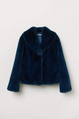 H&M Faux Fur Jacket - Blue