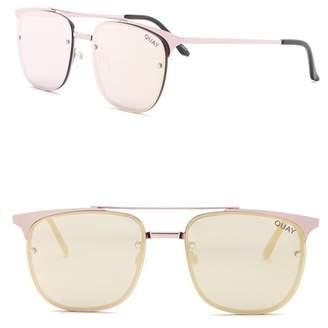 Quay Private Eye 49mm Navigator Sunglasses