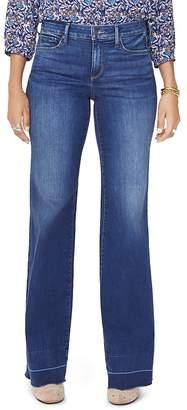 NYDJ Petites Released-Hem Wide-Leg Jeans in Muir