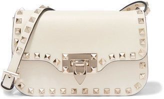 Valentino - The Rockstud Micro Leather Shoulder Bag - Ivory $1,495 thestylecure.com