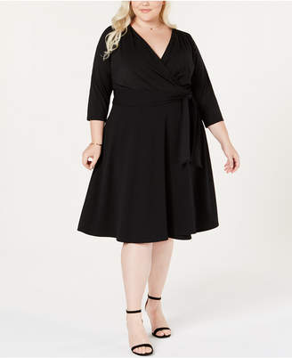 ECI Plus Size Wrap Dress