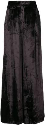 John Richmond velvet wide-leg trousers