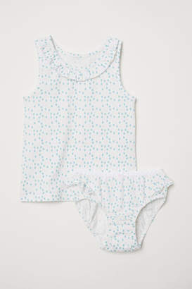 H&M Tank Top and Briefs - White