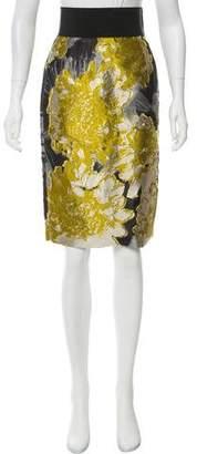 Les Copains Jacquard Pencil Skirt
